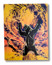 The Spirit Bear (yellow and orange wood print)