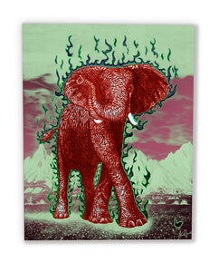 The Luck Elephant (canvas print)