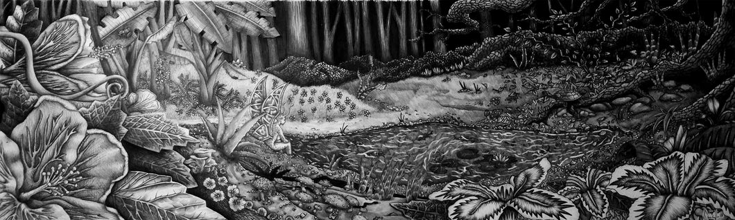 The Enchanted Pond (original drawing)