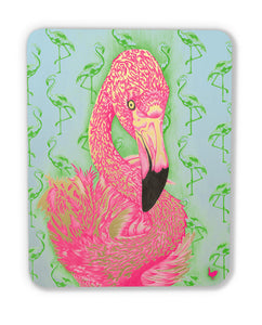 Flamingo! (wood print | magnet)