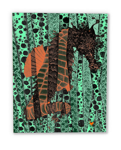 Fragmented Seahorse (canvas print)