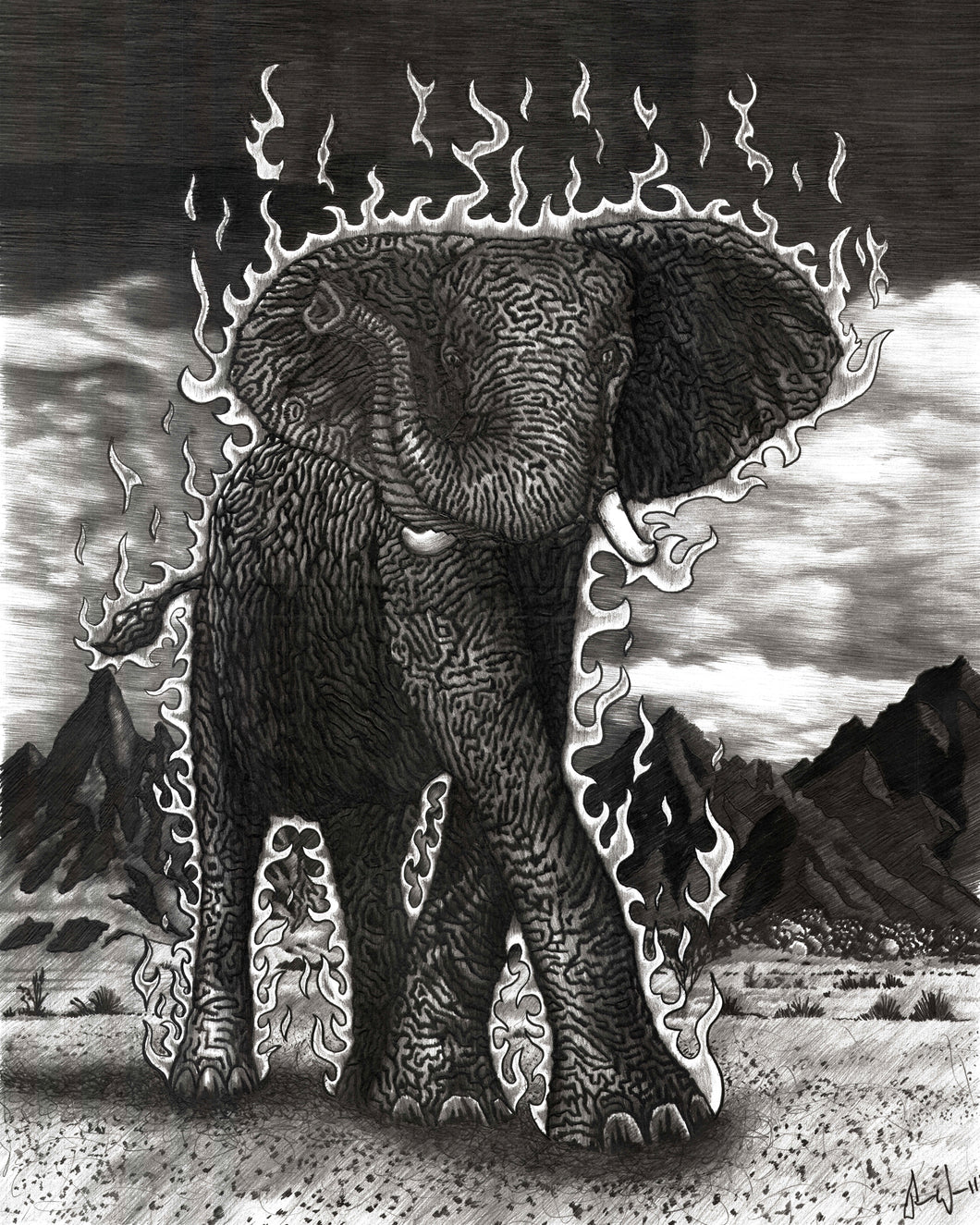 The Luck Elephant (original drawing)
