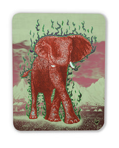The Luck Elephant (wood print magnet)