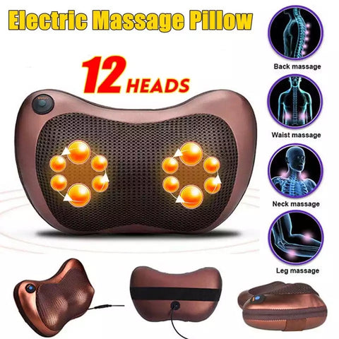 Instant Pain Relief Electric Massager Pillow