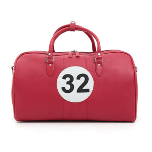 British Shoe Company Fangio Leather Holdall Red