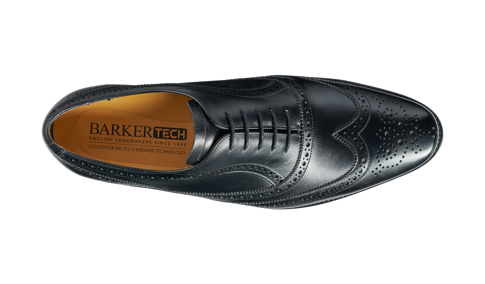 Barker Men's Turing Leather Brogue Shoes 4502