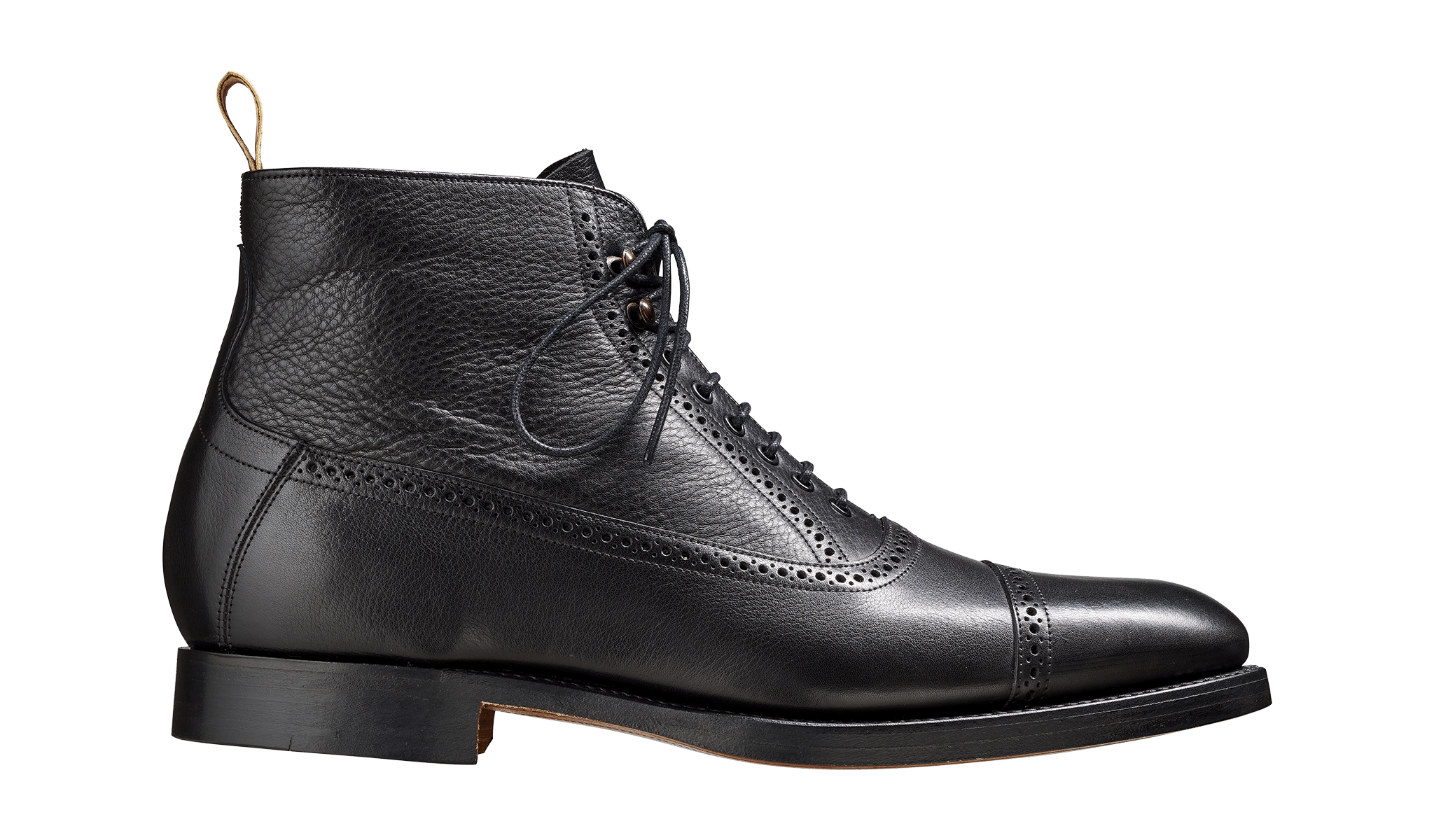 Barker Men's Foley Leather Brogue Boots 4503