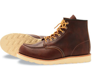 Red Wing Men's Classic Moc Leather Lace-Up Boots 8138
