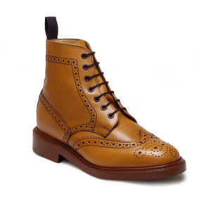 Sanders Men's Aintree Leather Brogue Boots 9316/LT