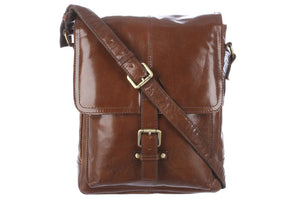 Ashwood Benjamin Leather Shoulder Bag Chestnut