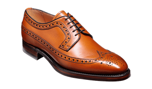 Barker Men's Calvay Leather Brogue Shoes 3989/26 - British Shoe Company