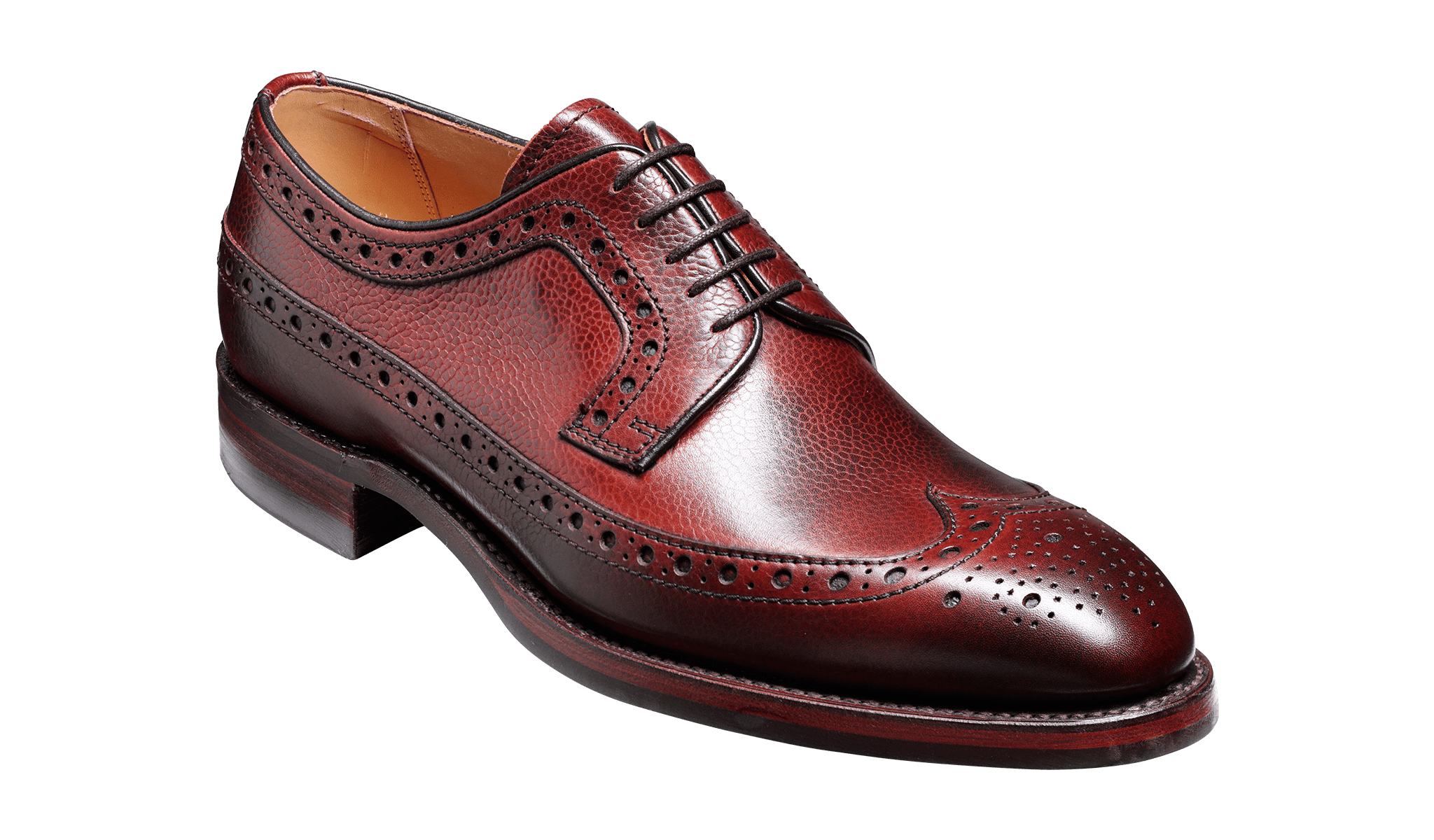 Barker Men's Calvay Leather Brogue Shoes 3989/76 - British Shoe Company