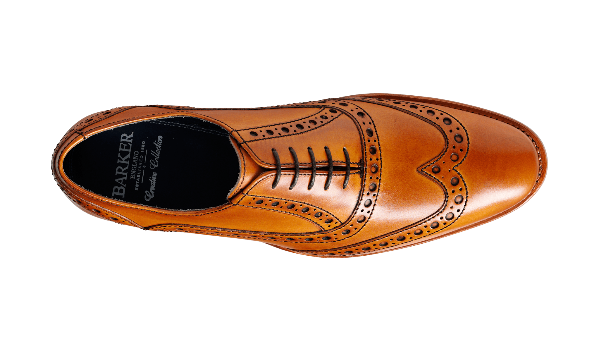 Barker Men's Grant Leather Brogue Shoes 3372/26 - British Shoe Company