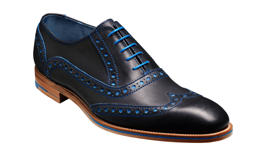 Barker Men's Grant Leather Brogue Shoes 3372/GR19 - British Shoe Company