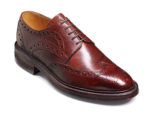 Barker Men's Grassington Leather Brogue Shoes 3421/76 - British Shoe Company