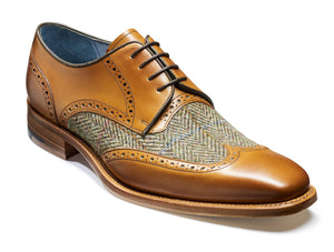 Barker Jackson-Cedar/Green Harris Tweed-British Shoe Company