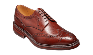 Barker Men's Kelmarsh Leather Brogue Shoes 4250/77 - British Shoe Company
