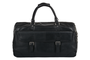 Ashwood Francis Leather Holdall Black