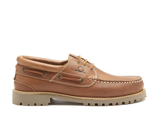 Chatham Men's Sperrin Leather Lace-Up rugged Boat Shoes CMS/DT