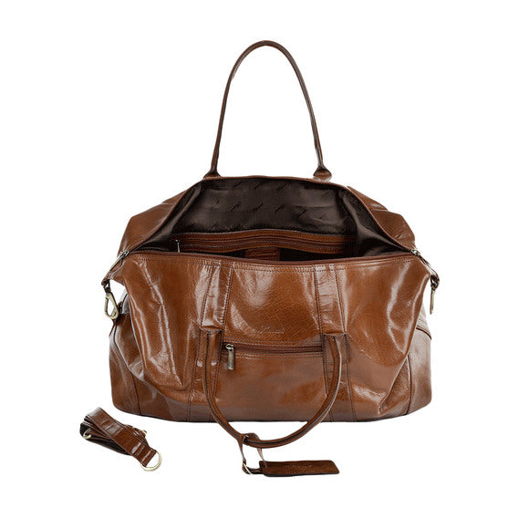 Ashwood Lewis Leather Holdall Chestnut