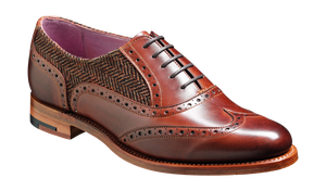 Barker Freya-Walnut Calf/Tweed-British Shoe Company