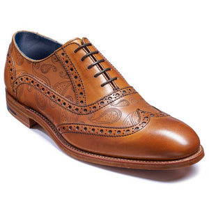 Barker Men's Grant Leather Brogue Shoes 3372/99 - British Shoe Company