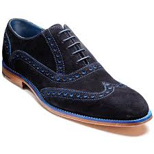 Barker Grant-Navy/Blue Suede-British Shoe Company