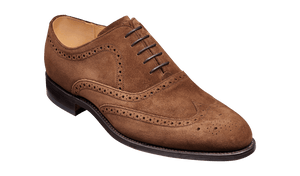 Barker Men's Hampstead Suede Brogue Shoes 4197/47 - British Shoe Company