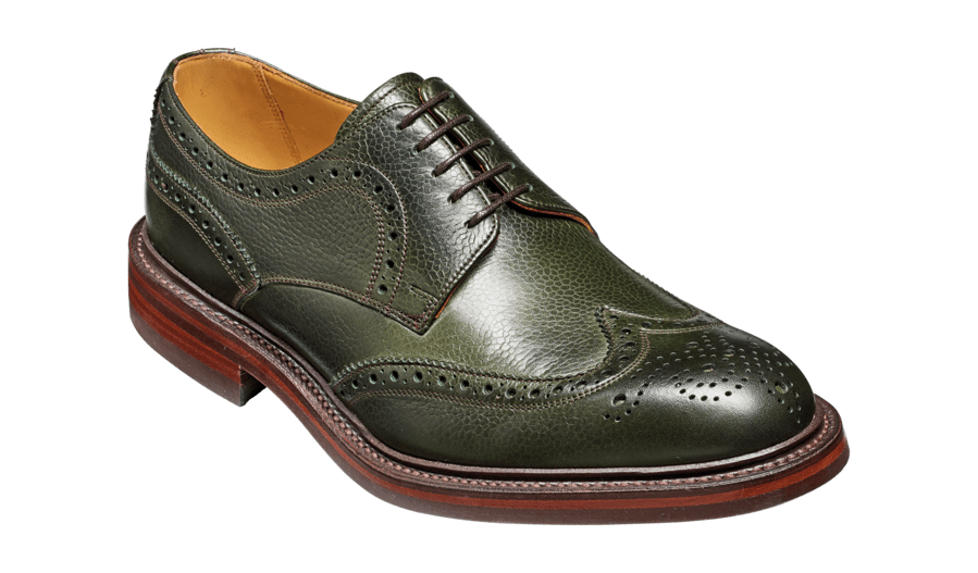 Barker Kelmarsh-Olive Green-British Shoe Company