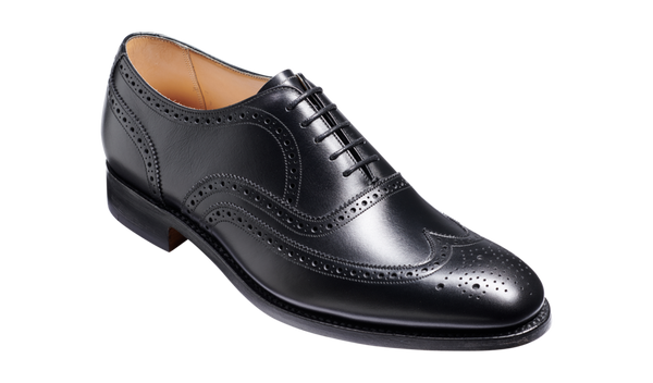 Barker Malton (G, Leather Sole)-Black Calf-British Shoe Company