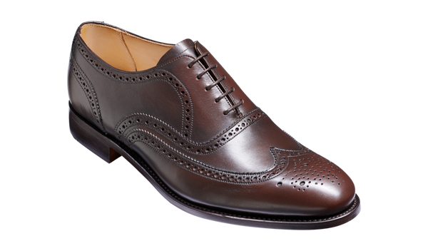 Barker Malton (G, Leather Sole)-Espresso Calf-British Shoe Company