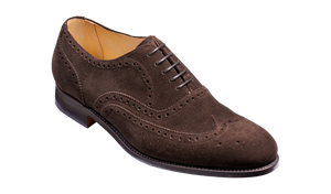 Barker Malton (G, Leather Sole)-Burnt Oak Suede-British Shoe Company