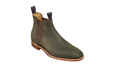 Barker Mansfield-Green Waxy Suede-British Shoe Company