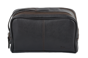 Ashwood 2012 Leather Wash Bag Brown