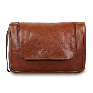 Ashwood 89145 Leather Wash Bag Chestnut