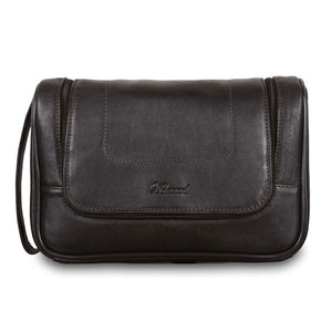 Ashwood 89145 Leather Wash Bag Brown