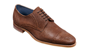 Barker Nixon-Brown Burnished Suede-British Shoe Company