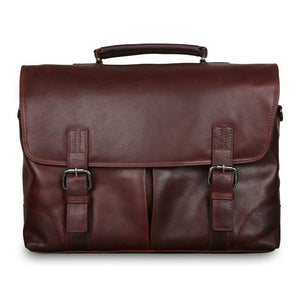 Ashwood Elliot Leather Satchel Tan
