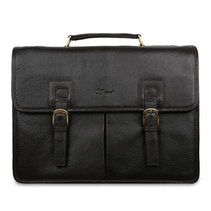 Ashwood Gareth Leather Briefcase Brown