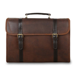 Ashwood Walter Leather Briefcase Brown