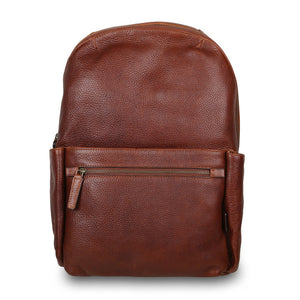 Ashwood James Leather Backpack Chestnut