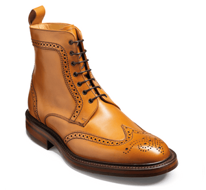 Barker Men's Calder Leather Brogue Boots 4149/26 - British Shoe Company