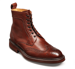 Barker Men's Calder Leather Brogue Boots 4149/76 - British Shoe Company