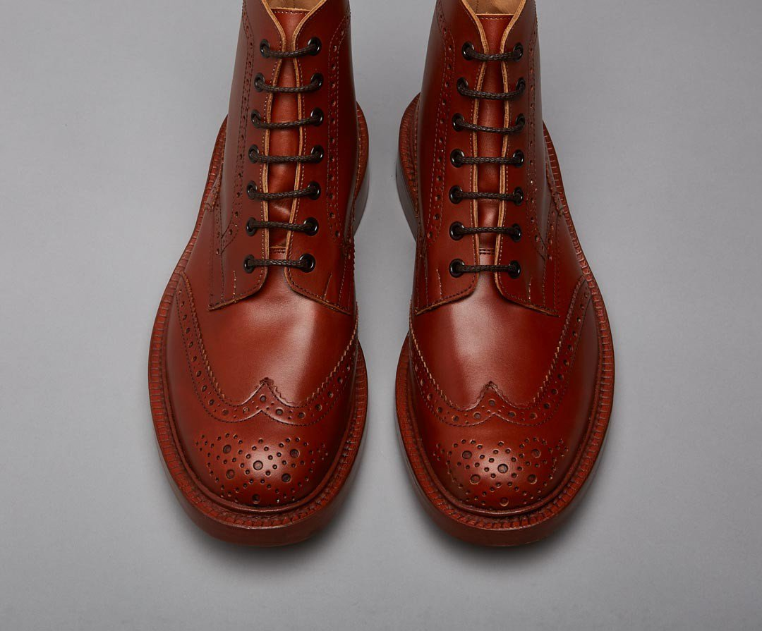 Tricker's Stow Dainite Sole-Marron-British Shoe Company