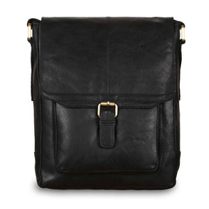 Ashwood G-32 Leather Shoulder Bag Black