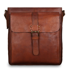 Ashwood 7994 Leather Shoulder Bag Tan