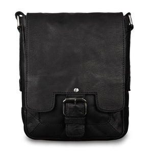 Ashwood 8341 Leather Shoulder Bag Black