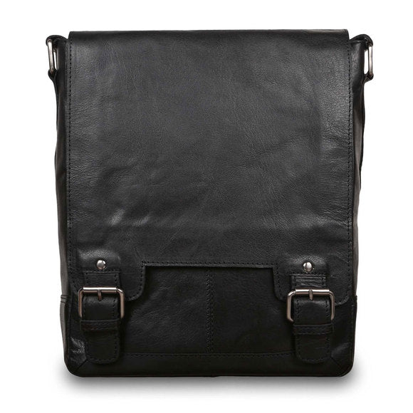 Ashwood 8342 Leather Shoulder Bag Black