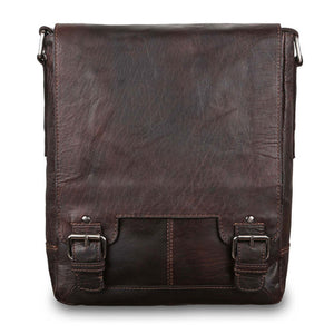 Ashwood 8342 Leather Shoulder Bag Brown