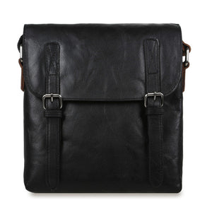 Ashwood F-84 Leather Shoulder Bag Black